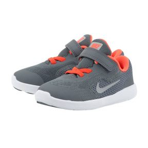 Nike – Nike Revolution 3 (TDV) Toddler 8819415-012 – ΓΚΡΙ/ΠΟΡΤΟΚΑΛΙ