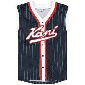 T-shirt με κοντά μανίκια Karl Kani T-shirt Varsity Block Pinstripe Baseball