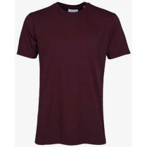 T-shirt με κοντά μανίκια Colorful Standard T-shirt Oxblood Red [COMPOSITION_COMPLETE]